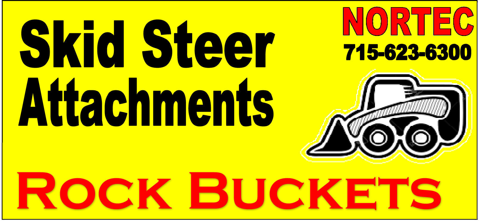 41C Skid Steer Attachment Rock Buckets - NORTEC USA